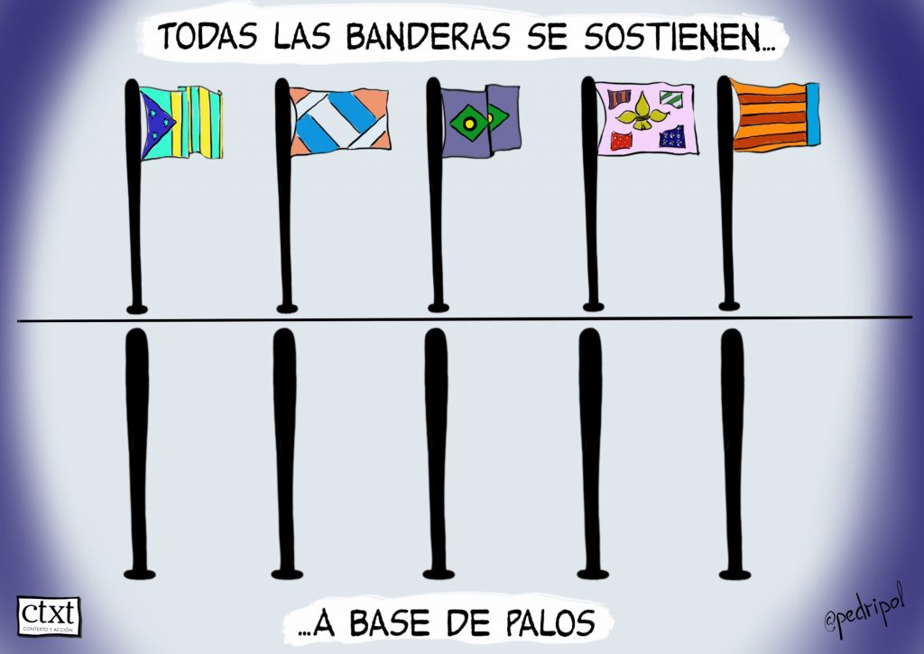 Banderas y palos